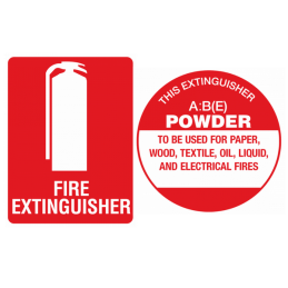 abe (powder) fire extinguisher sign kit