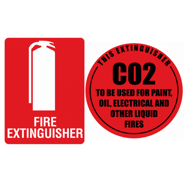 co2 fire extinguisher sign kit
