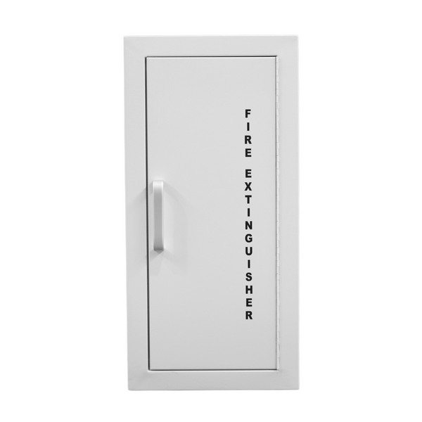 recessed fire extinguisher cabinet 4.5kg white front
