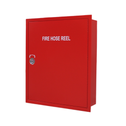 recessed fire hose reel cabinet - front